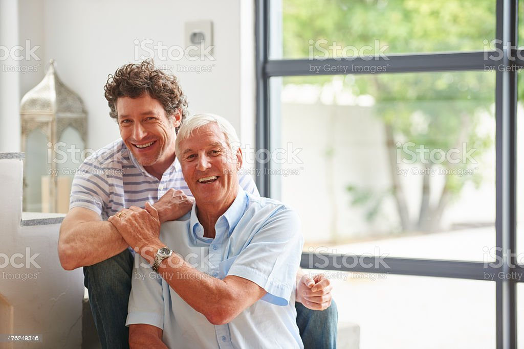 Now it's my turn to be there for my dad stock photo