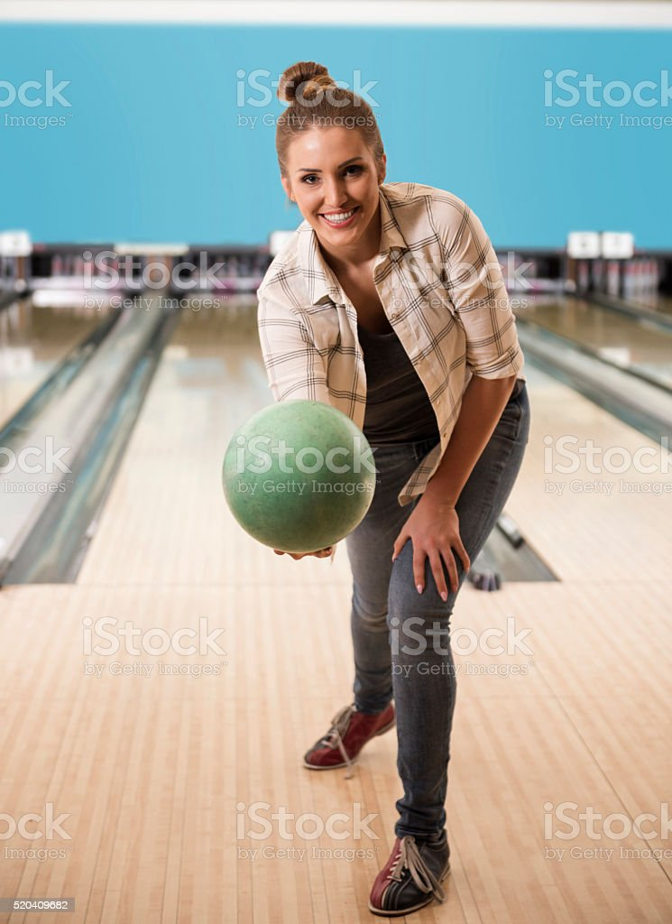 Now it's time for her shot stock photo