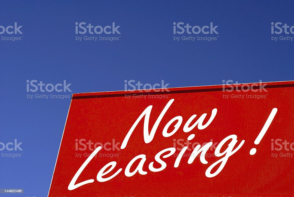 Now Leasing royalty-free stock photo