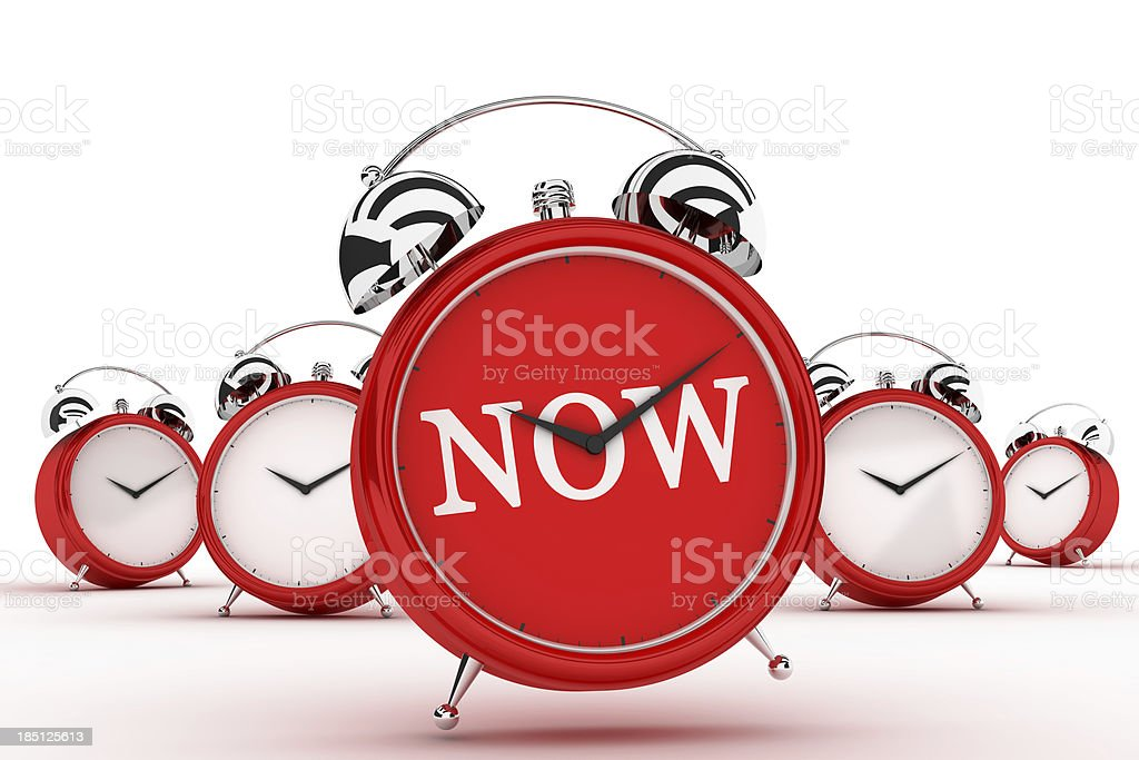 Now on the Alarm Clock royalty-free stock photo