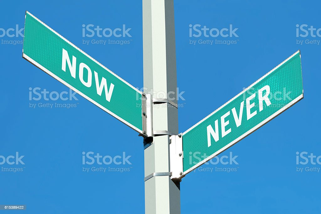 Now or Never stock photo