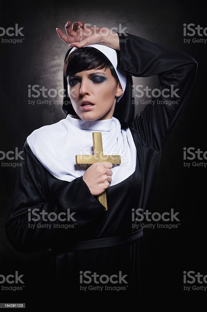 Nun royalty-free stock photo