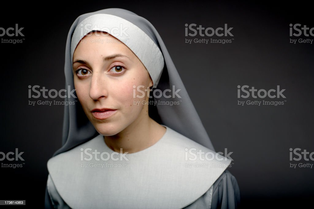 Nun stock photo