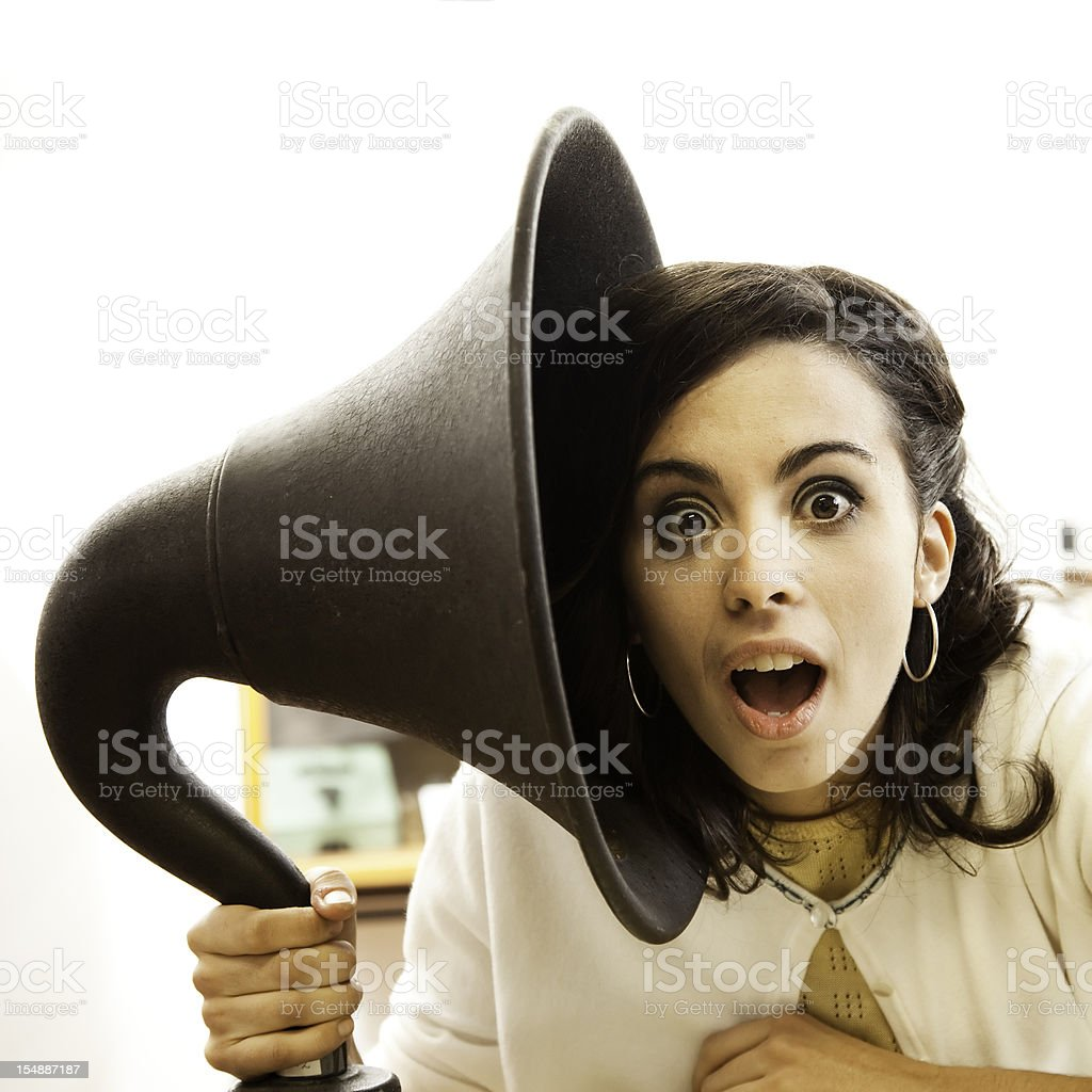 Now she gets it royalty-free stock photo