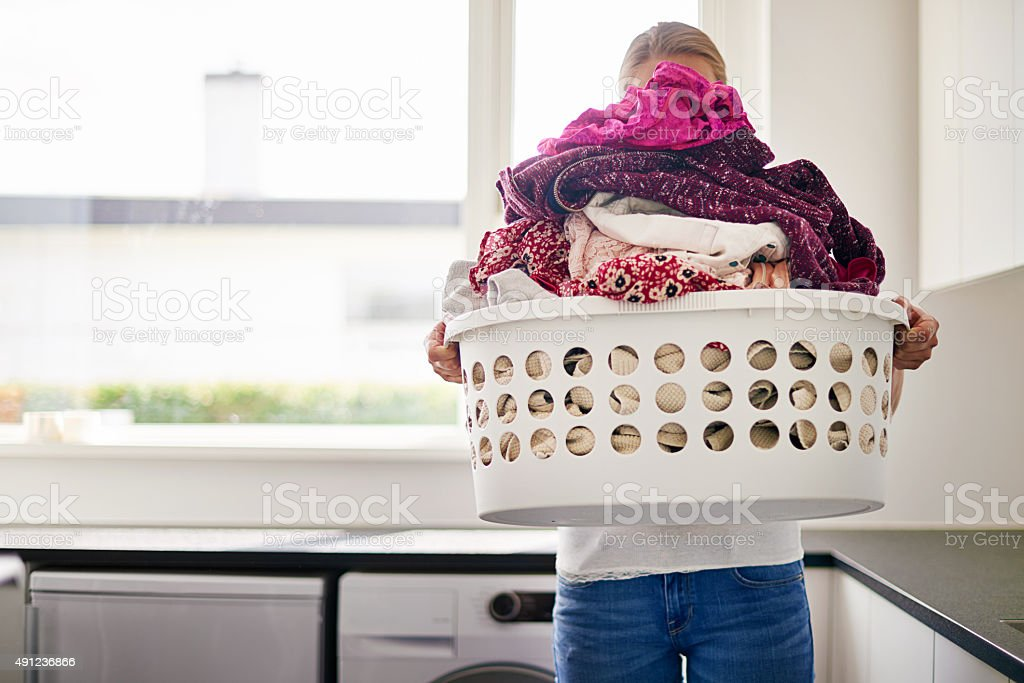 Now that's one big pile of laundry stock photo