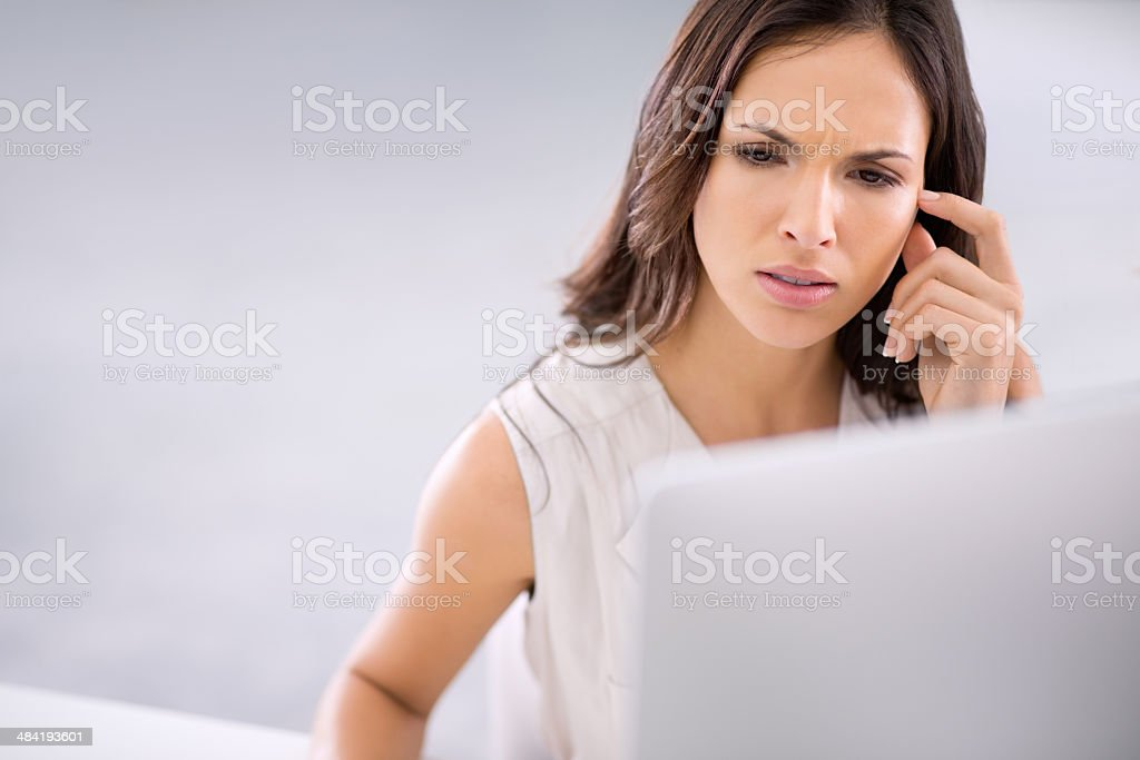 Now that's weird..where did that error come from? stock photo