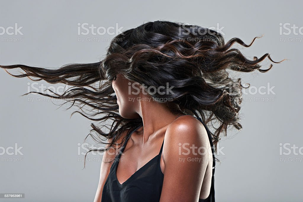 Now this is a hairstyle! stock photo