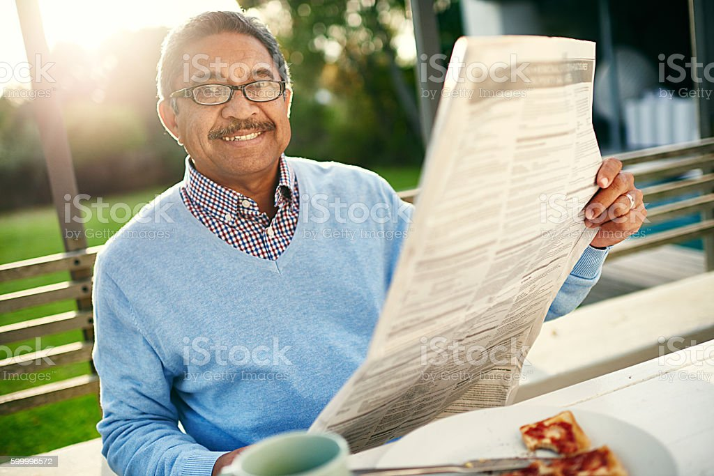 Now this is how you start your morning stock photo