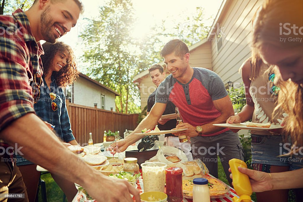 Now we eat stock photo