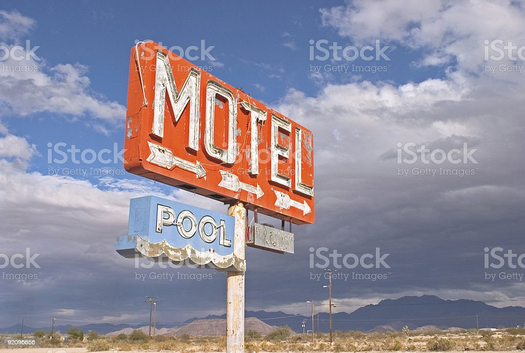 Nowhere Motel stock photo