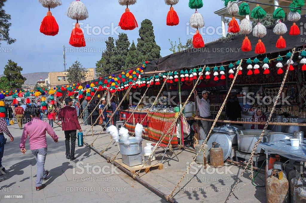 Nowruz Street Market stock photo