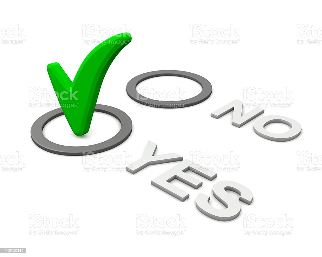 No-Yes checkmark or ticked box royalty-free stock photo