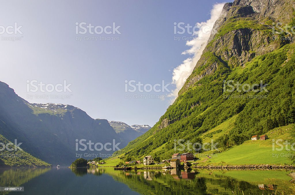 N?r?yfjord in Norway stock photo