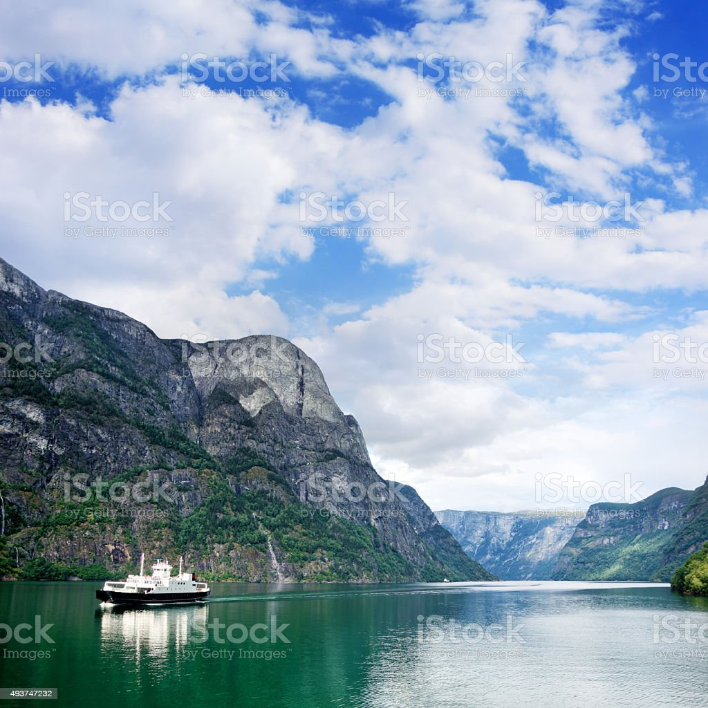 Nærøyfjord, Norway stock photo
