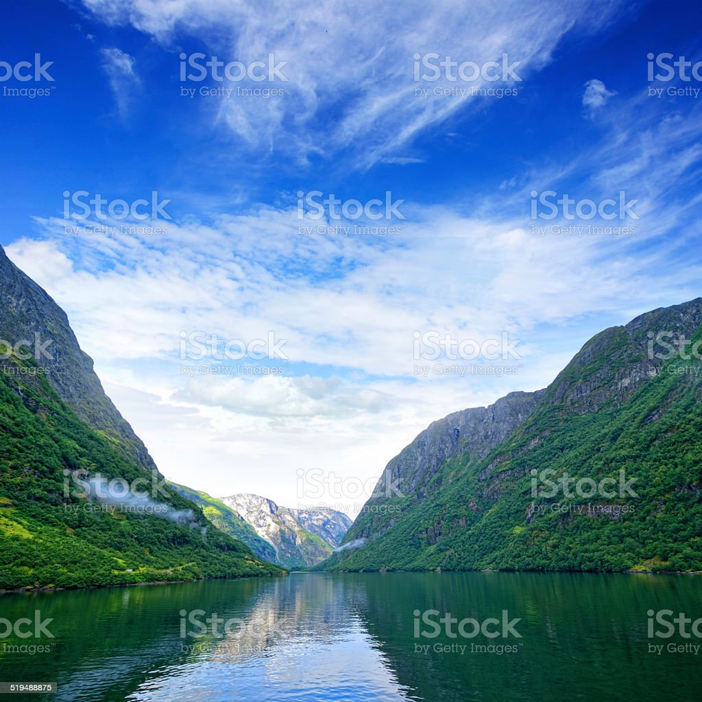 N?r?yfjord, Norway stock photo