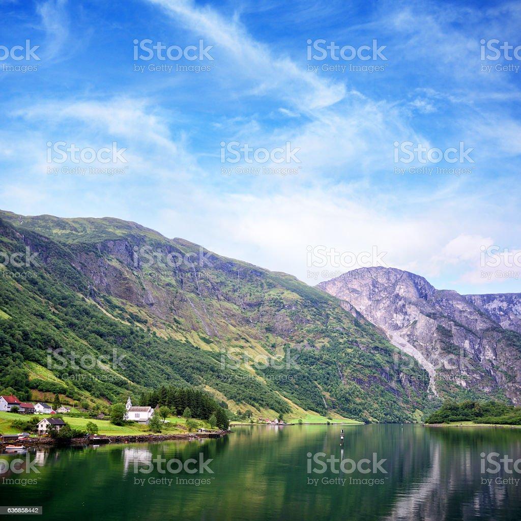 Nærøyfjord, Norway stock photo