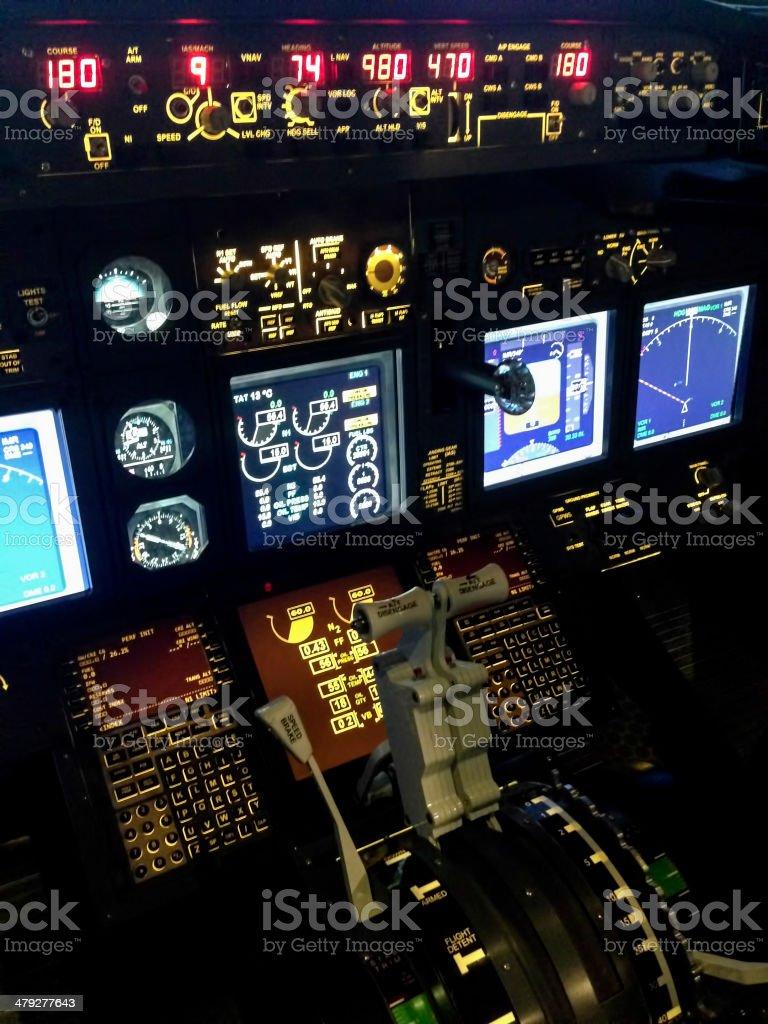 İnside a Cockpit royalty-free stock photo