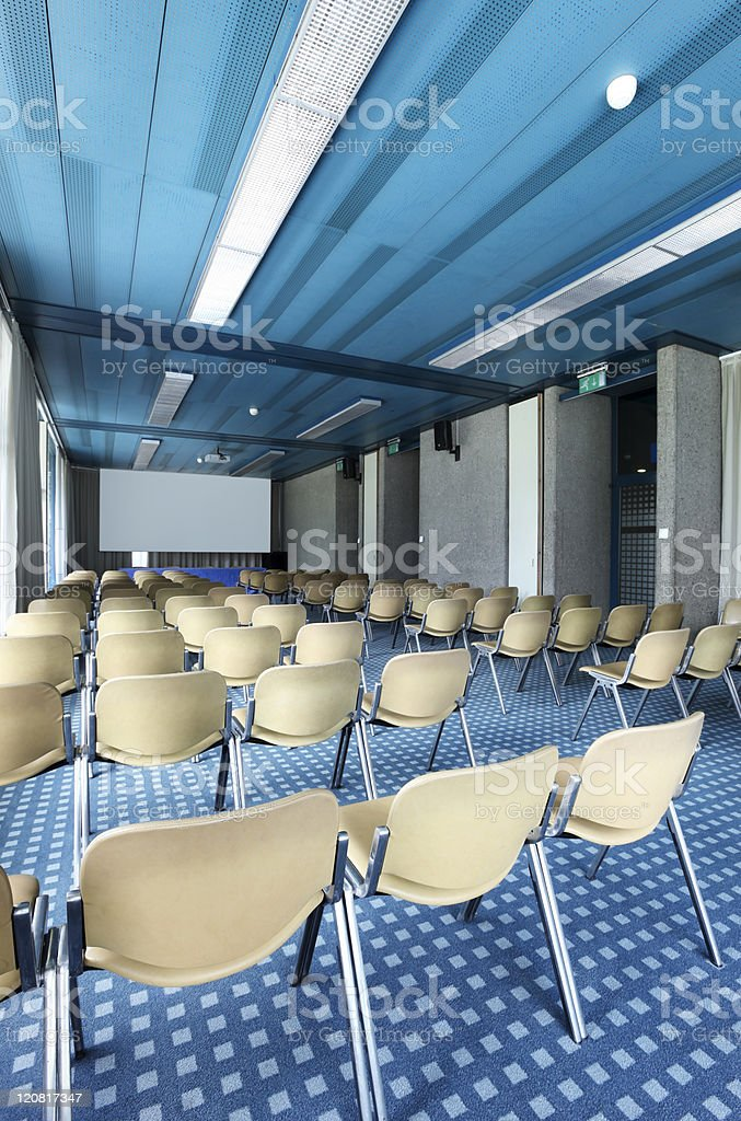 nterior of a conference hall royalty-free stock photo