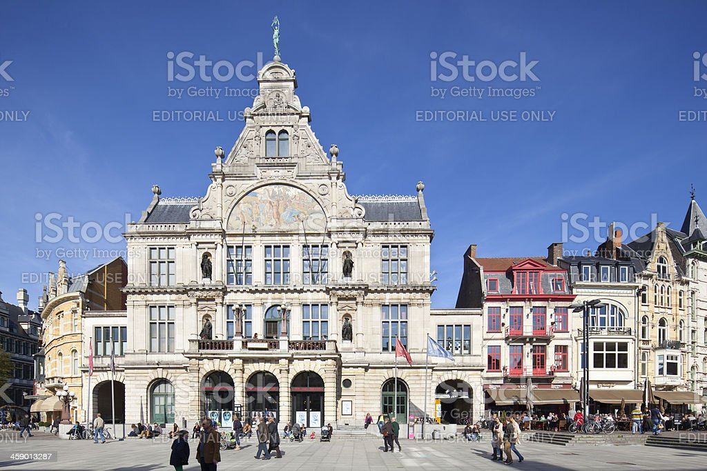NTGent Theater In Ghent royalty-free stock photo
