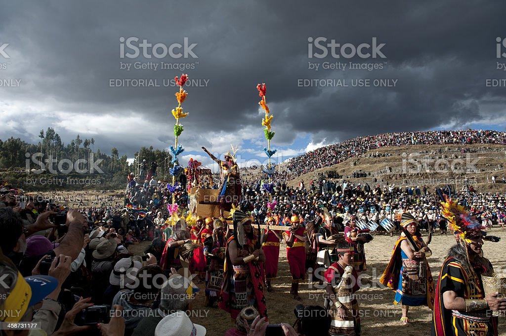 İnti Raymi and the King of Peru stock photo