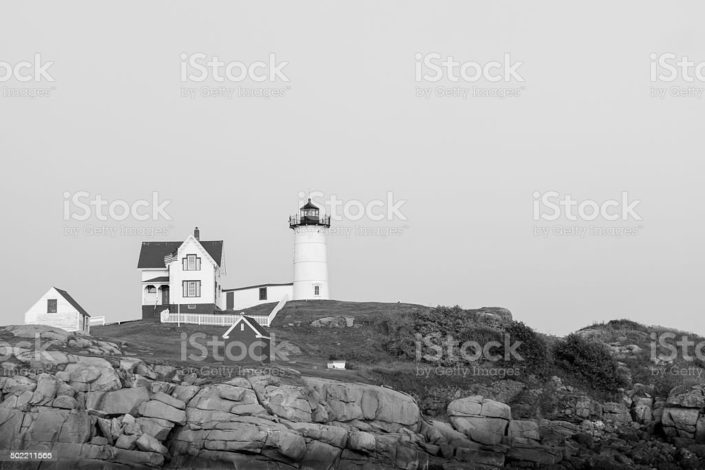 Nubble Light at Cape Neddick Lighthouse royalty-free stock photo