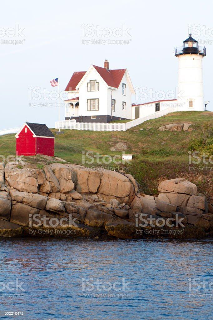 Nubble Light at Cape Neddick Maine royalty-free stock photo