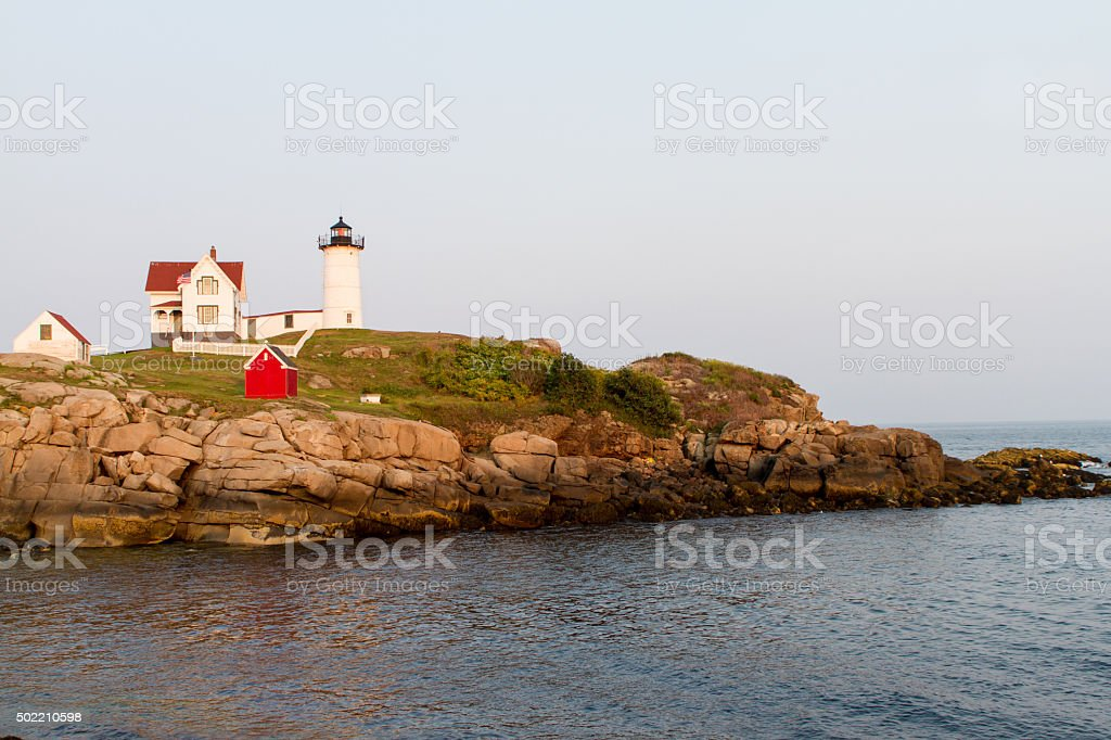 Nubble Light at Cape Neddick Maine royalty-free stock photo