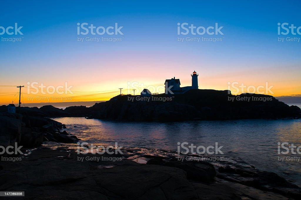 Nubble Lighthouse royalty-free stock photo