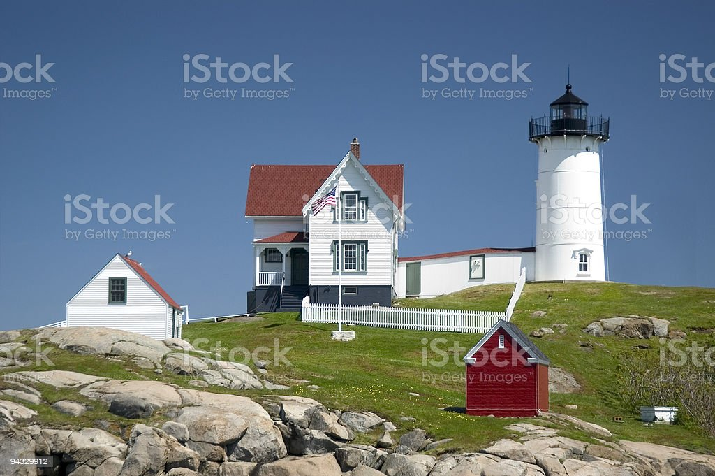 Nubble Lighthouse royalty-free stock photo