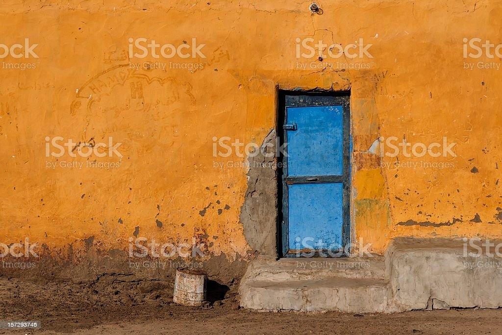 Nubian village stock photo
