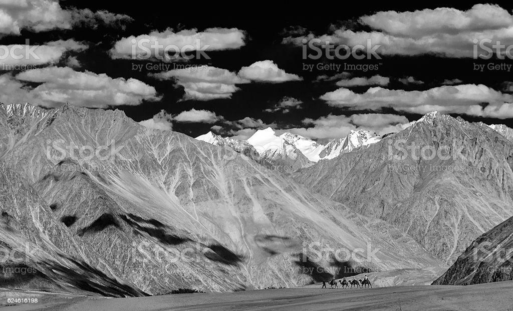 Nubra Valley Landscape stock photo
