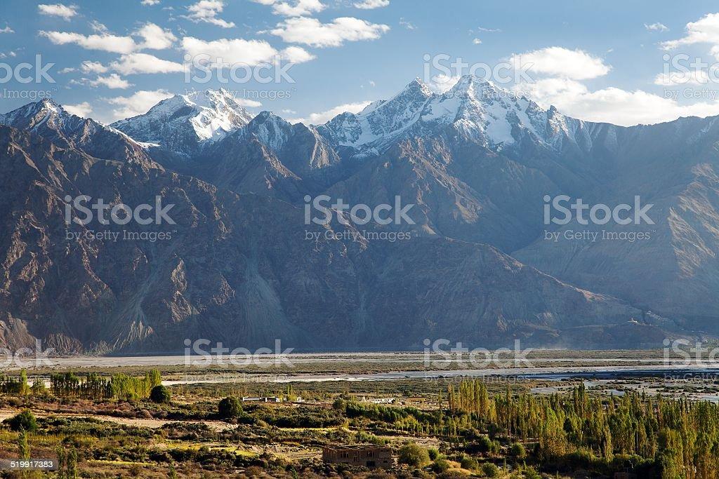 Nubra valley stock photo