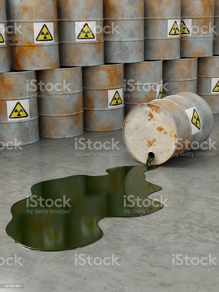 Nuclear Accident stock photo