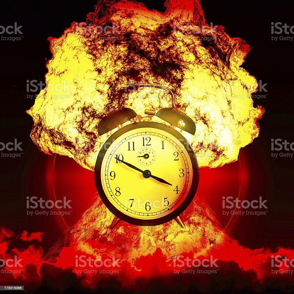Nuclear alarm royalty-free stock photo