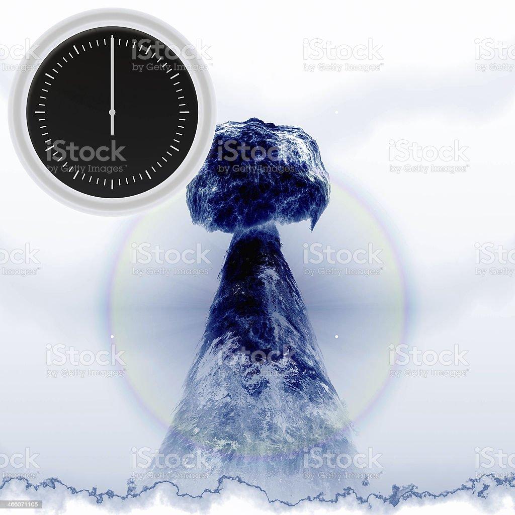 Nuclear alarm stock photo