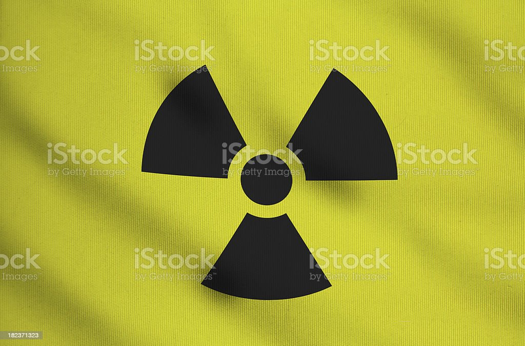 nuclear and radiation symbol stock photo