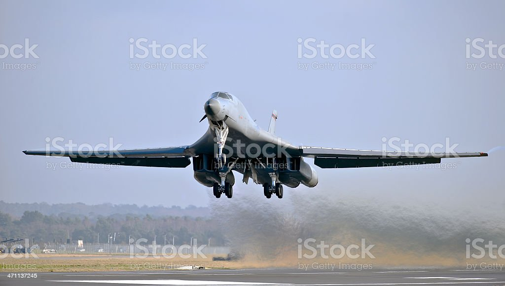 Nuclear Bomber royalty-free stock photo
