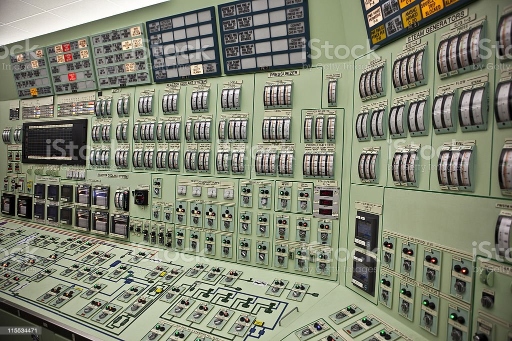 Nuclear Control Room stock photo