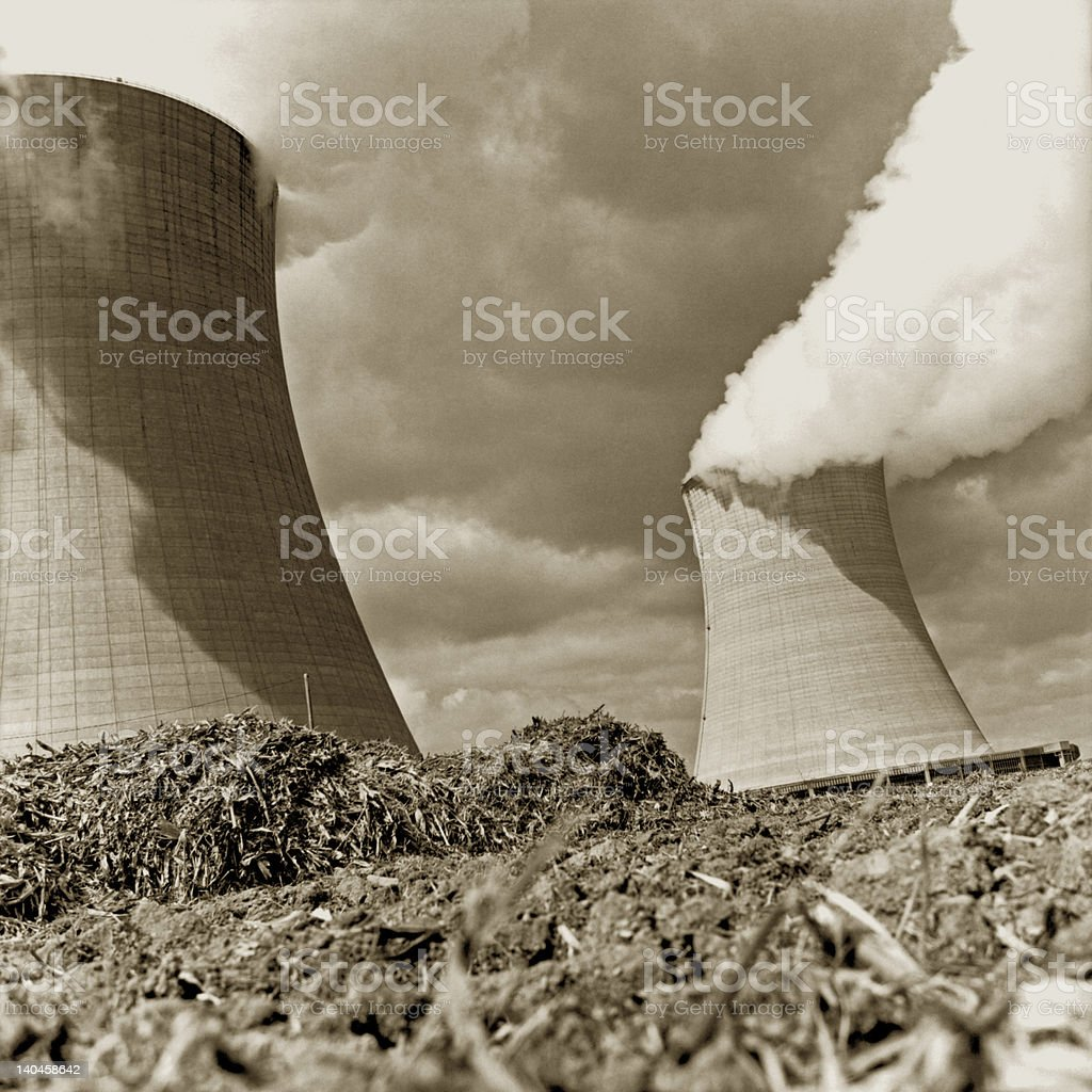 Nuclear Cooling Towers stock photo