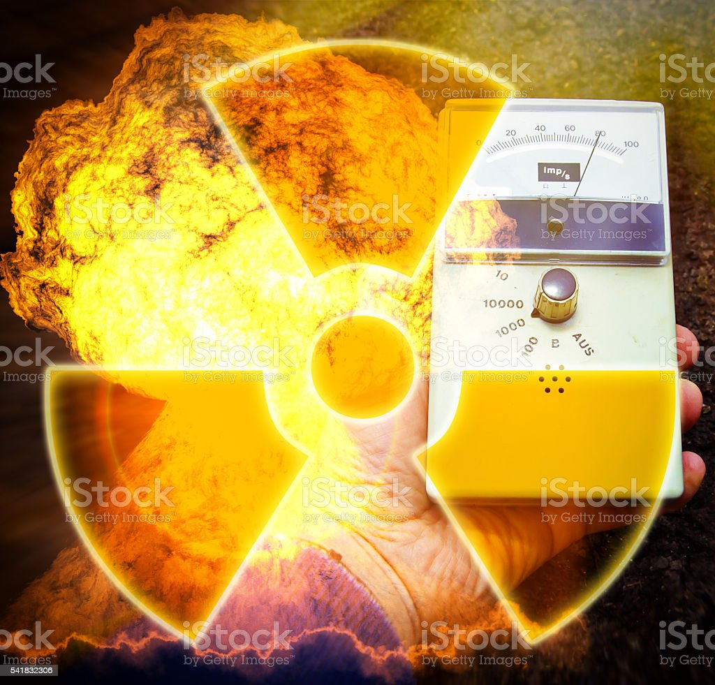 Nuclear danger stock photo