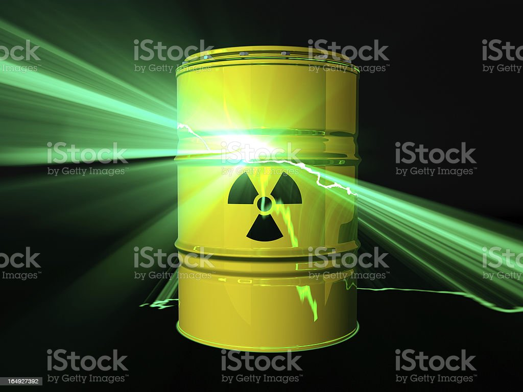 Nuclear disaster concept stock photo