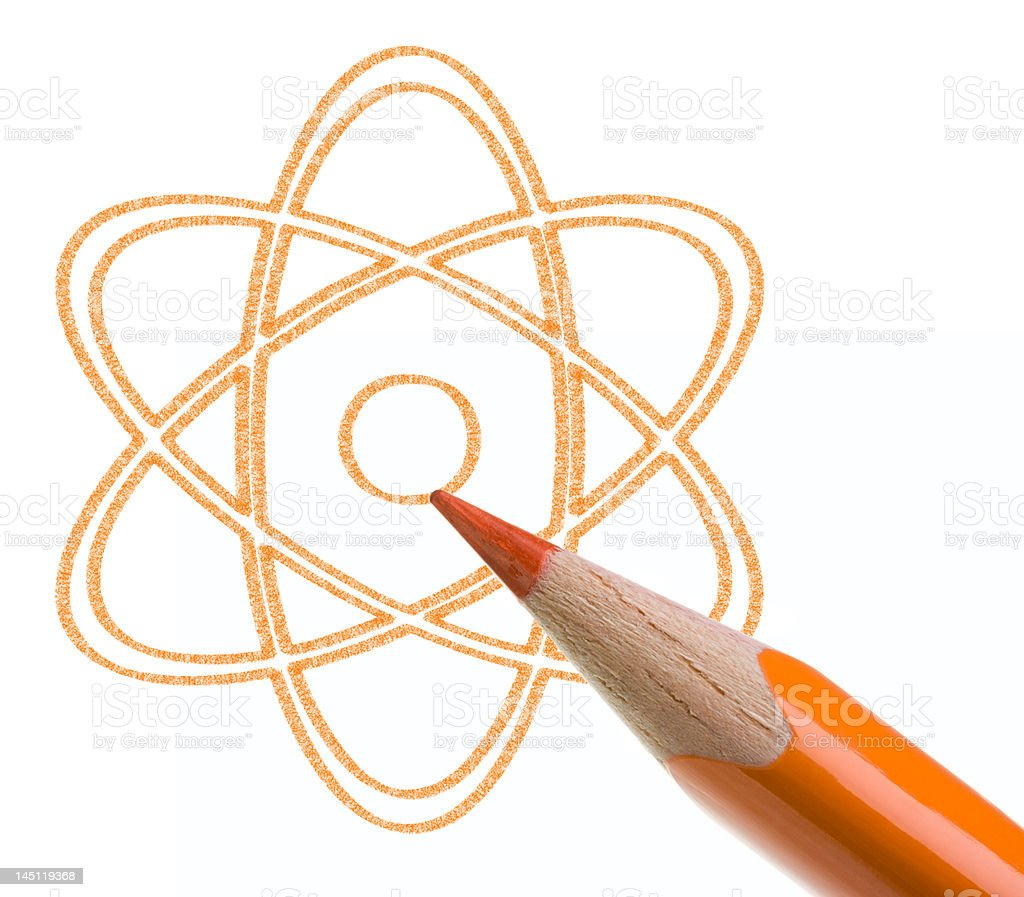 Nuclear energy concept royalty-free stock photo