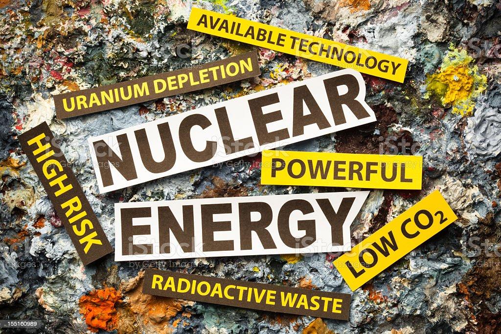 Nuclear energy debate royalty-free stock photo