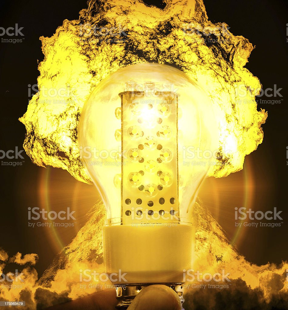 Nuclear energy royalty-free stock photo