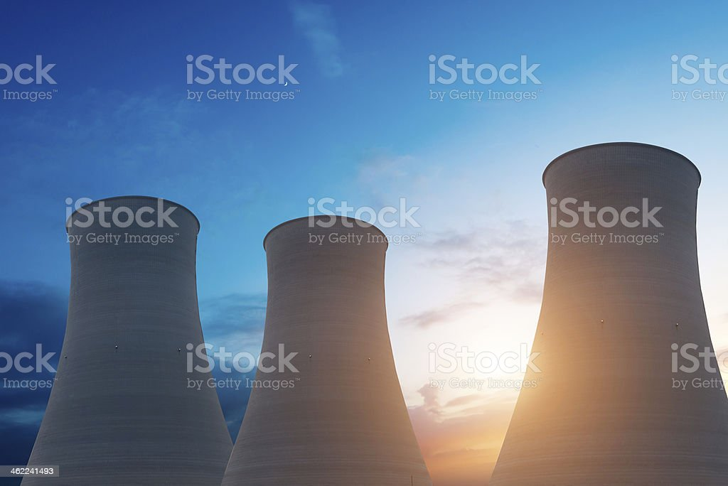Nuclear energy stock photo