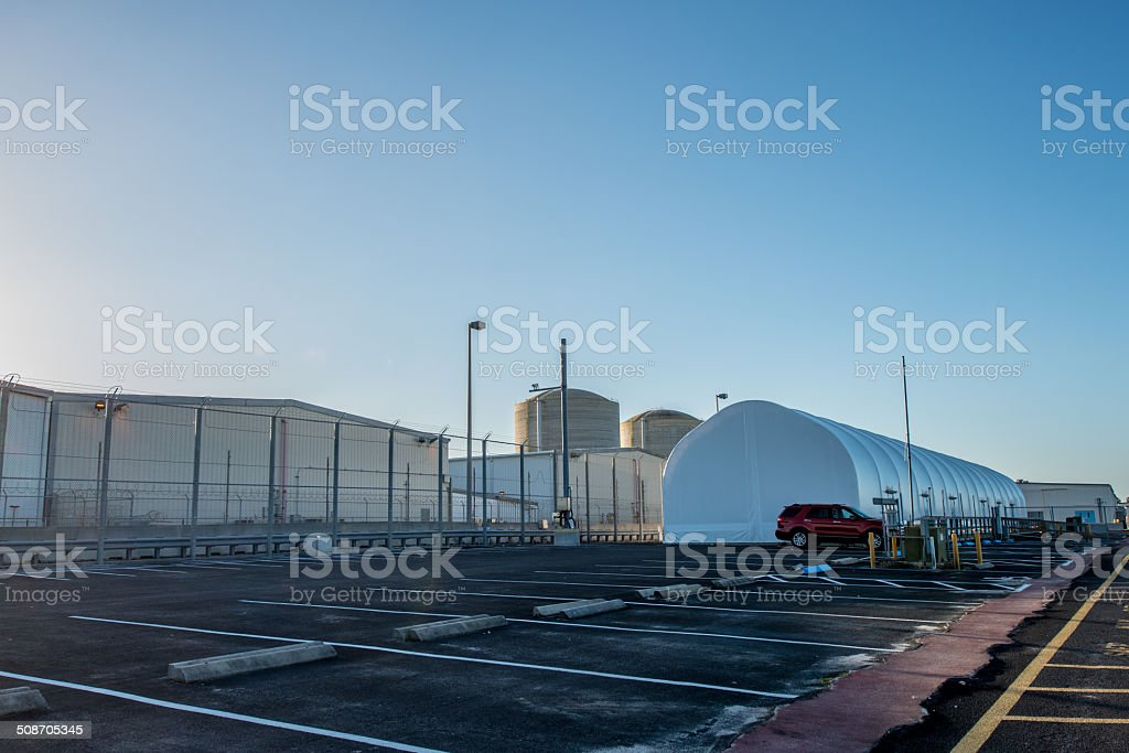 Nuclear Energy Plant stock photo