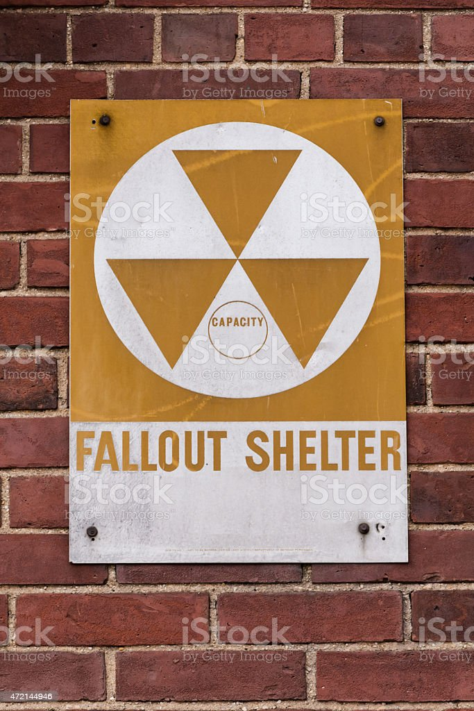 Nuclear Fallout Shelter stock photo