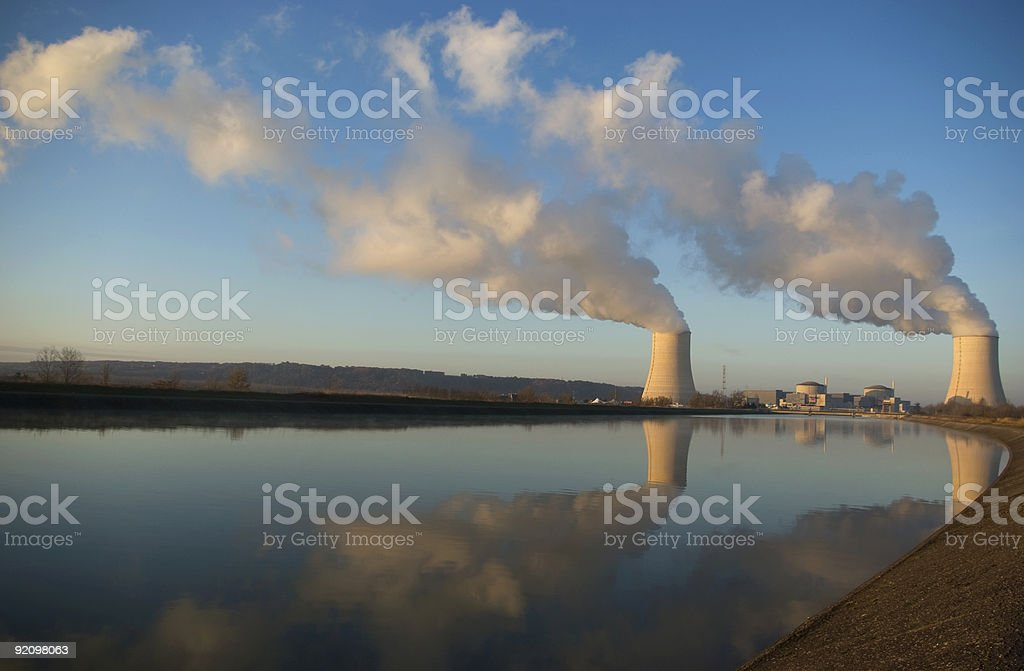 Nuclear generating station royalty-free stock photo