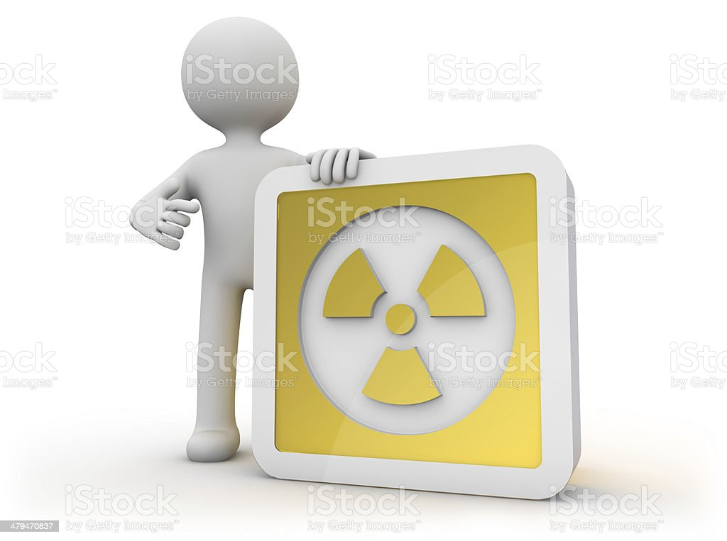 nuclear icon stock photo