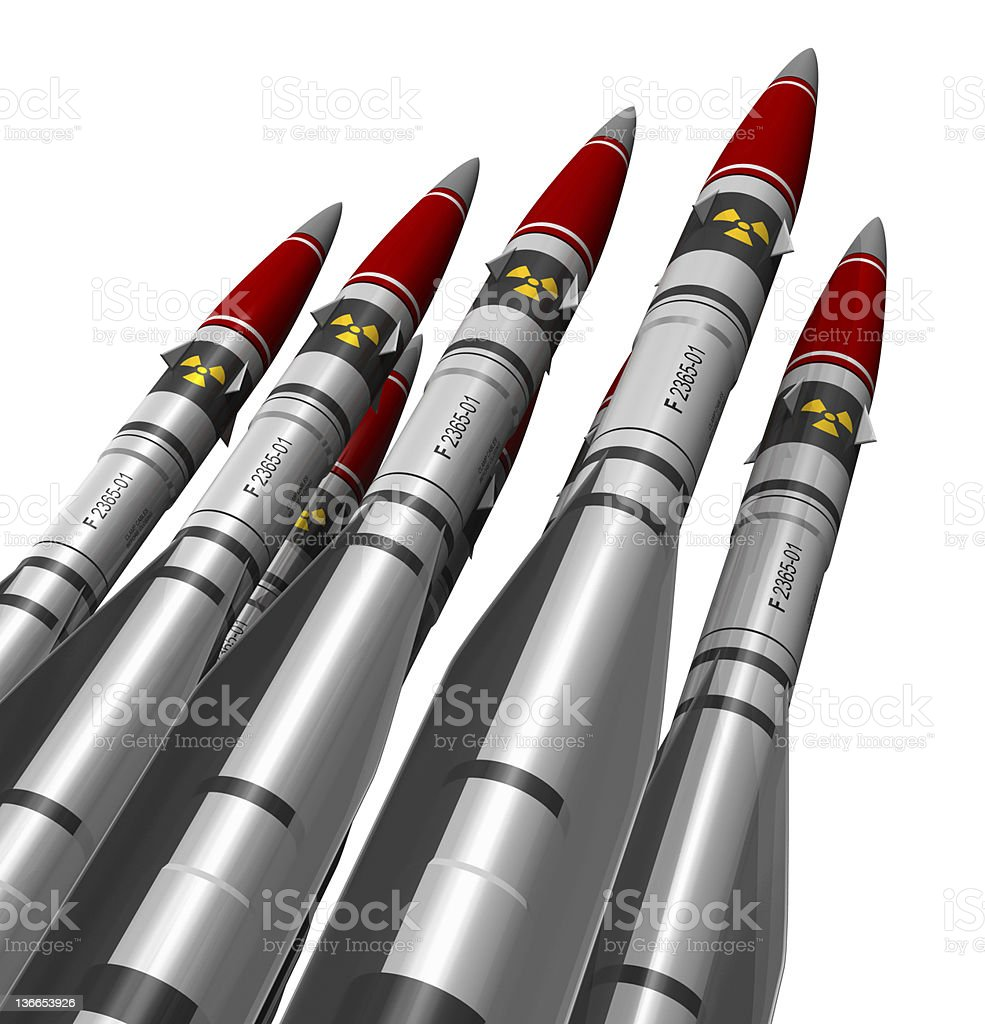 Nuclear missiles stock photo